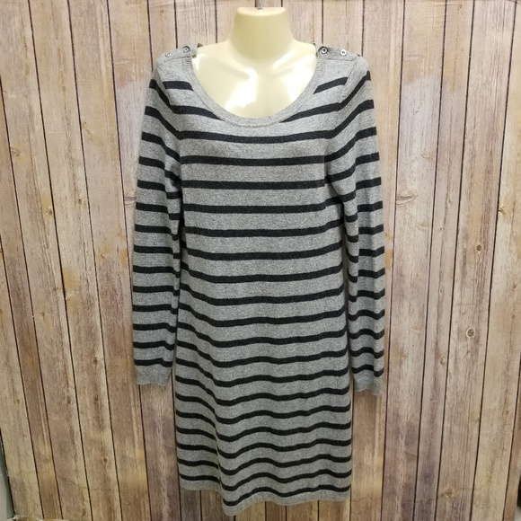 c05480bb87c Banana Republic Dresses   Skirts - Banana Republic gray striped sweater  dress
